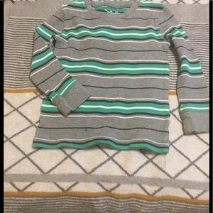 """Jumping Beans"""" Gray & Green Striped Thermal"""